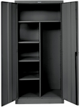 800 Series One Wide Single Tier Double Door Combination Cabinet Assembled - Midnight Ebony - 36''W x 18''D x 78''H [855C18A-ME-HAL]