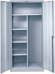 800 Series Antimicrobial One Wide Single Tier Double Door Combination Cabinet Assembled - Platinum - 36''W x 18''D x 78''H [855C18A-PL-AM-HAL]