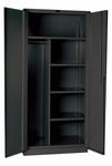 DuraTough Classic Series Extra Heavy Duty Combination Storage Cabinet Assembled - Charcoal - 48''W x 24''D x 78''H [HW4CC8478-4CL-HAL]