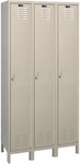 Value Max Three Wide Single-Tier Locker Assembled - Parchment Finish - 36''W x 18''D x 78''H [UH3288-1A-PT-HAL]