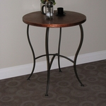 Hammered Metal Round Table - Brown [55974-FS-DCON]