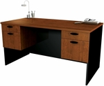 Hampton Executive Workstation in Tuscany Brown and Black [69400-63-FS-BS]