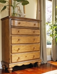 Hamptons Classic Wood 42''W x 53''H Chest with Scalloped Base - Weathered Pine [1553-785-FS-HILL]