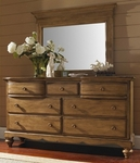 Hamptons Classic Wood 50''W x 42''H Landscape Mirror with Scalloped Base - Weathered Pine [1553-721-FS-HILL]