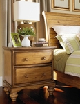 Hamptons Classic Wood 30''W x 30''H Nightstand with Scalloped Base - Weathered Pine [1553-771-FS-HILL]