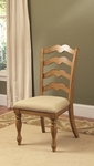 Hamptons Wood 25''H Dining Side Chair with Upholstered Seat - Set of 2 - Weathered Pine [4608-801-FS-HILL]