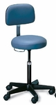 Hand Controlled Air-Lift Stool with Backrest - 20'' - 27''H [HAU-2123-FS-HAUS]