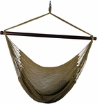 Caribbean Tight Weave Polyester Hanging Hammock Rope Chair - Brown [4913T-FS-ALG]