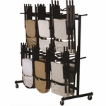 Steel Frame Folding Chair Truck with 4'' Casters and Hanging Rods - 68''D x 31''W [C84-33-CRL]
