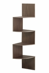 Hanging Corner Wood 4 Shelf Space Saver - Chocolate [99300-FS-DCON]
