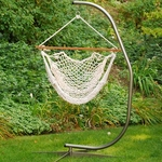 Cotton Rope Hanging Hammock Rope Chair - White [6817-FS-ALG]