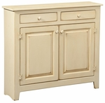 Hannah Rustic Style 28''W x 2''D Solid Pine Large Cabinet - Buttermilk [465-006-FS-CHEL]