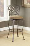Hanover Powder Coated Metal 30'' Bar Height Stool with Beige Faux Suede Swivel Seat - Brown [4815-844-FS-HILL]