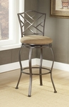 Hanover Powder Coated Metal 24'' Counter Height Stool with Beige Faux Suede Swivel Seat - Brown [4815-843-FS-HILL]