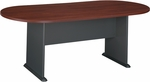 82'' W x 35'' D Racetrack Conference Table - Hansen Cherry [TR90484A-FS-BBF]