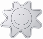 Happy Face Educational Shatter Proof Acrylic Mirror [WB0035-FS-WBR]