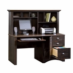 Harbor View 62''W x 57''H Wooden Computer Desk and Hutch with Sliding Keyboard Shelf - Antiqued Paint [401634-FS-SRTA]