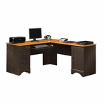 Harbor View Wooden 66'' Square Corner Computer Desk with Sliding Keyboard Shelf - Antiqued Paint [403794-FS-SRTA]