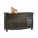Harbor View 58''W x 34''H Wooden 4 Drawer Dresser with 2 Louver Doors - Antiqued Paint [401324-FS-SRTA]