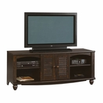 Harbor View 63''W x 25''H Wooden Entertainment Center with 2 Louver Doors - Antiqued Paint [403680-FS-SRTA]
