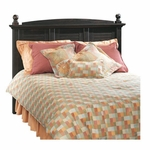 Harbor View 64.25''W x 51''H Wooden Headboard with Solid Wood Finials - Full/Queen - Antiqued Paint [401326-FS-SRTA]