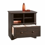 Harbor View 32''W x 31''H Wooden Lateral File Cabinet with Cubbyhole Storage - Antiqued Paint [403681-FS-SRTA]