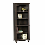 Harbor View 27.25''W x 72''H 5 Shelf Wooden Bookcase with 3 Adjustable Shelves - Antiqued Paint [401633-FS-SRTA]