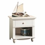 Harbor View 26''W x 26''H Wooden Night Stand with Solid Wood Knobs - Antiqued White [400639-FS-SRTA]
