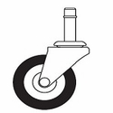 Hard Single Wheel Casters