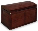 Hardwood Barrel Top Toy Chest - Cherry