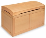 Hardwood Barrel Top Toy Chest - Natural