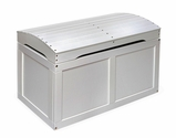 Hardwood Barrel Top Toy Chest - White