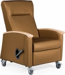 Harmony Mobile Medical Recliner with Closed Arms - Grade 2 Fabric [H5017-GRD2-FS-LZBF]