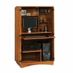 Harvest Mill 32''W x 54''H Wooden Computer Armoire with 2 Adjustable Shelves - Abbey Oak [404958-FS-SRTA]