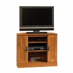 Harvest Mill 35''W x 29''H Wooden Corner Entertainment Center with Adjustable Shelves - Abbey Oak [404962-FS-SRTA]