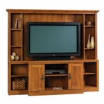 Harvest Mill 71''W x 62''H Wooden Home Theater with 7 Adjustable Shelves - Abbey Oak [404963-FS-SRTA]