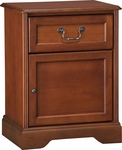 Hawthorne Bedside Cabinet With1 Drawer And 1 Door [C1032-FS-HKM]