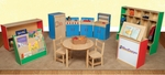 Healthy Kids trade; Multi-Colored School Furniture Package - Set of 11 [99923C-WDD]