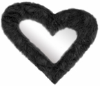 Heart Furr Mirror Black