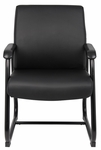 Heavy Duty 350 lb Capacity Caressoft™ Guest Chair - Black [B709-FS-BOSS]