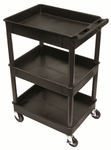 Heavy Duty 40''H Multi-Purpose Mobile Tub Utility Cart with 3 Shelves [STC111-FS-LUX]