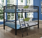 Heavy Metal Black Full Over Full Bunk Bed [938-137-FS-PO]