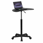 Height Adjustable Mobile Laptop Computer Desk with Black Top [NAN-JN-2792-GG]