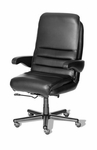 Hercules 3000 Office Chair with Rocker Reclining Seat Back - Leathermate [OF-HERC30-LLM-FS-ARE]