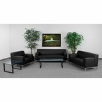 HERCULES Definity Series Reception Set with Free Coffee and End Table [ZB-DEFINITY-8009-SET-BK-GG]