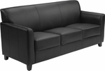 HERCULES Diplomat Series Black Leather Sofa [BT-827-3-BK-GG]