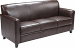 HERCULES Diplomat Series Brown Leather Sofa [BT-827-3-BN-GG]