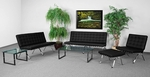 HERCULES Flash Series Reception Set in Black with Free Coffee and End Table [ZB-FLASH-801-SET-BK-GG]
