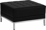 HERCULES Imagination Series Black Leather Ottoman [ZB-IMAG-OTTOMAN-GG]