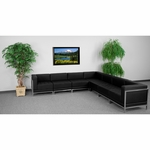 HERCULES Imagination Series Black Leather Sectional Configuration, 7 Pieces [ZB-IMAG-SECT-SET1-GG]